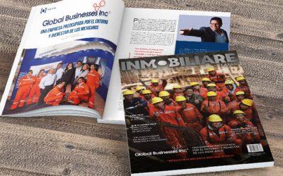 Global en la portada de la revista INMOBILIARE